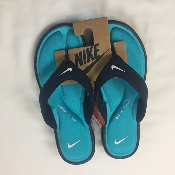 5ffc6fdb91c Nike Ultra Comfort Thong Sandal Obsidian   Blue 9